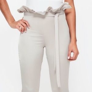 NWT missguided satin cigarette trousers